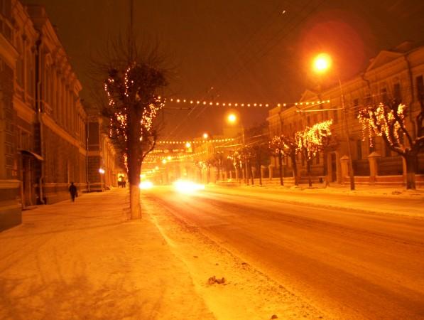 Ryazan bei Nacht (Langzeitaufnahme)