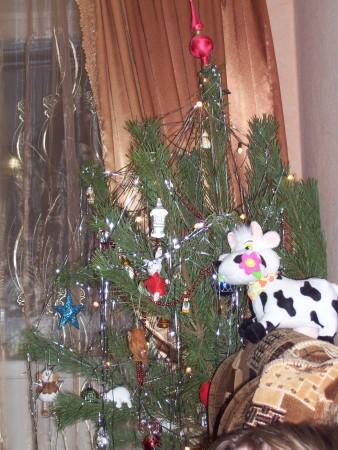 Weihnachtsbaum mit Kuh :D