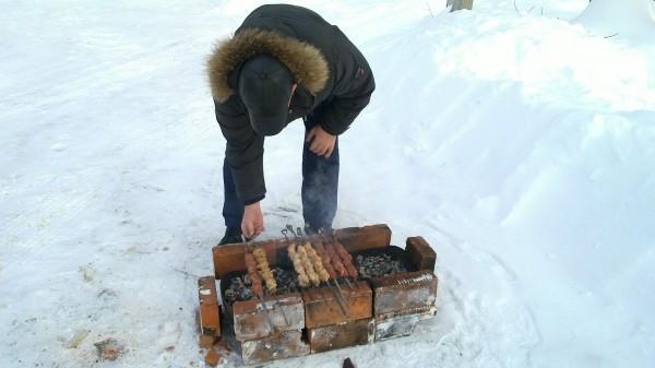 lecker Schaschlik, auch im Winter eine gute Idee