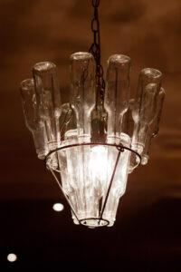 Lampe in der Bar