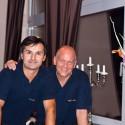 Der Hotelier Babic und unser Kellner (v. l. n. r.)