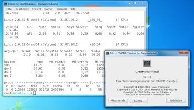 MoSH im Gnome Terminal (unter Windows mit MobaXterm)
