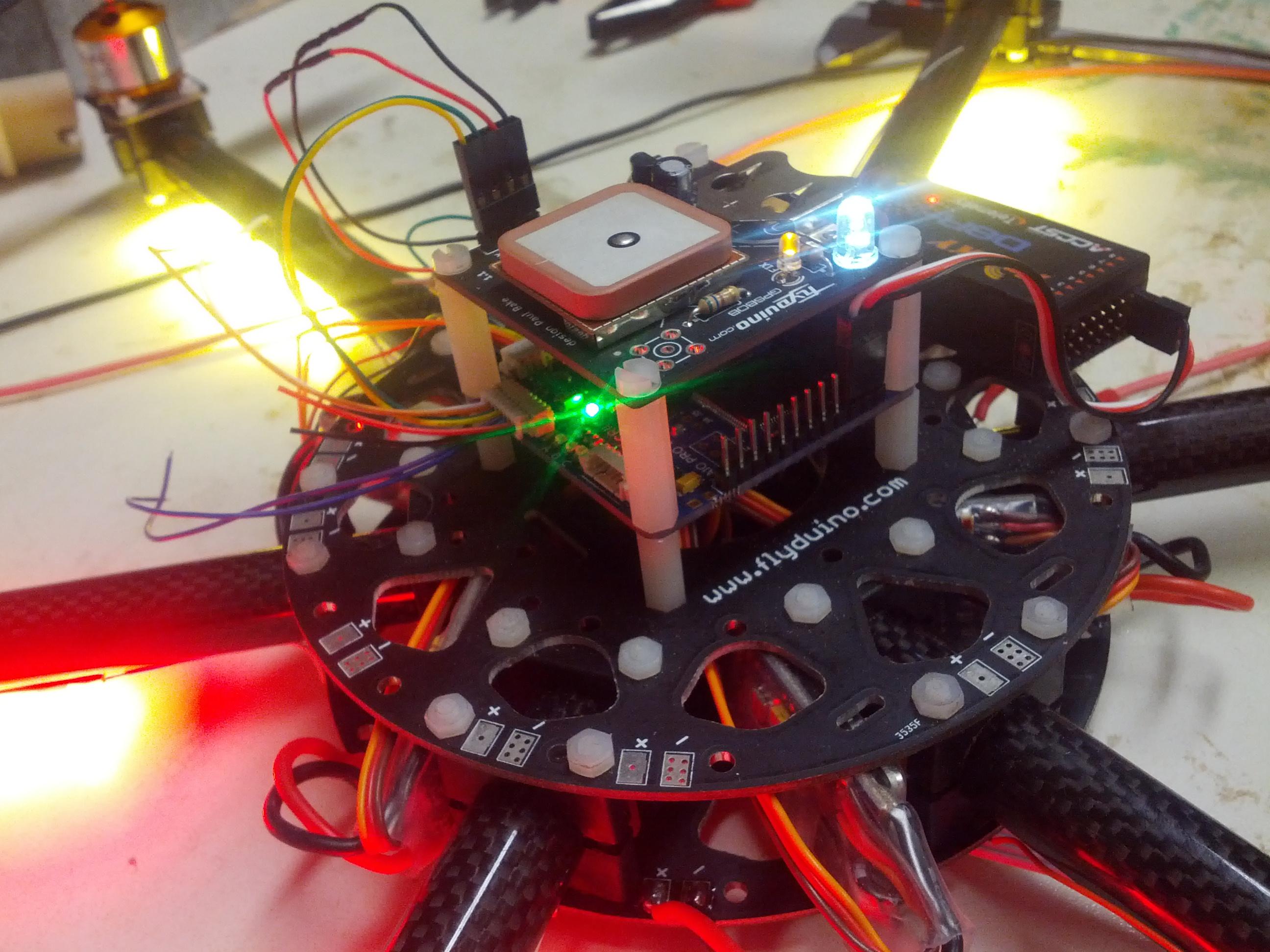 Hexacopter FlightControl mit GPS und Bluetooth