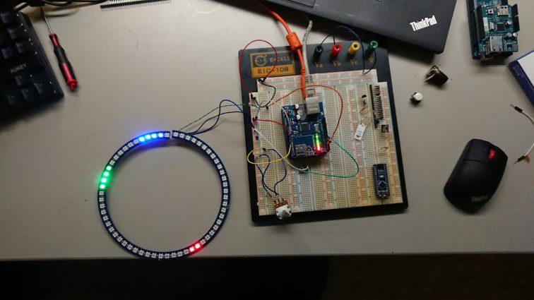 Arduino Uhr mit der Zielhardware und 60-LED-Ring