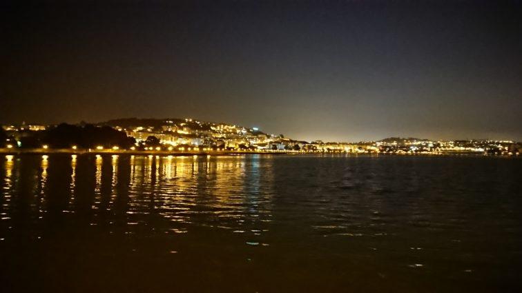 Ria da Coruna bei Nacht