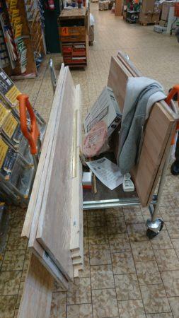 Holz für ~120€ plus etwas Kleinkram