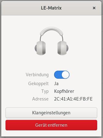 Bluetooth Gerätedialog
