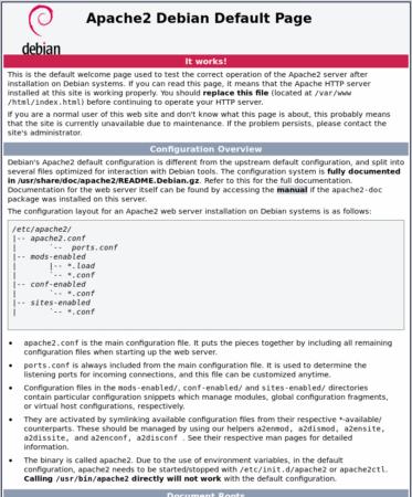 Debian Apache Default Website