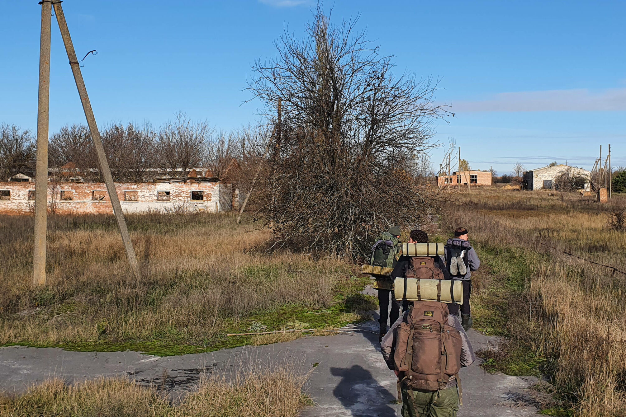 Reaching an abandonded village