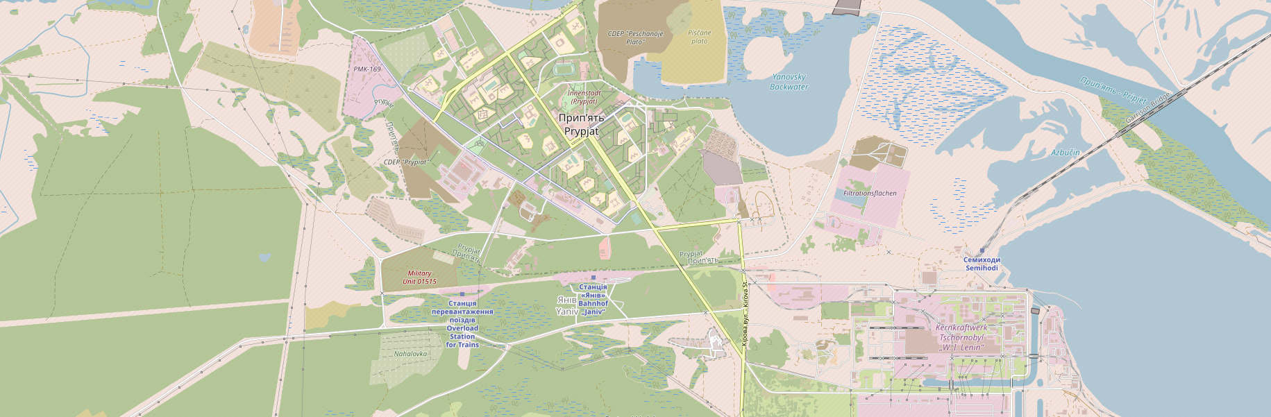 osm map of Chernobyl